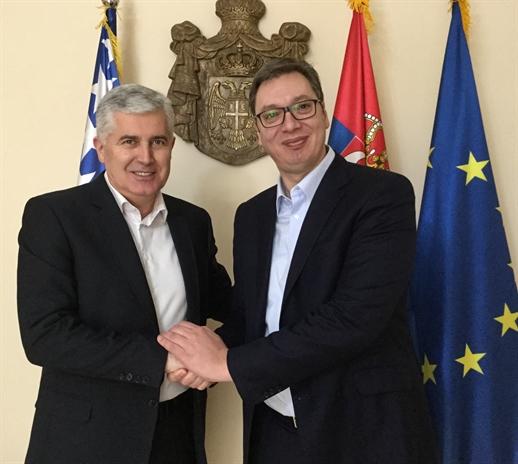 Predsjedavajući Predsjedništva BiH dr. Dragan Čović susreo se u Beogradu s predsjednikom Republike Srbije