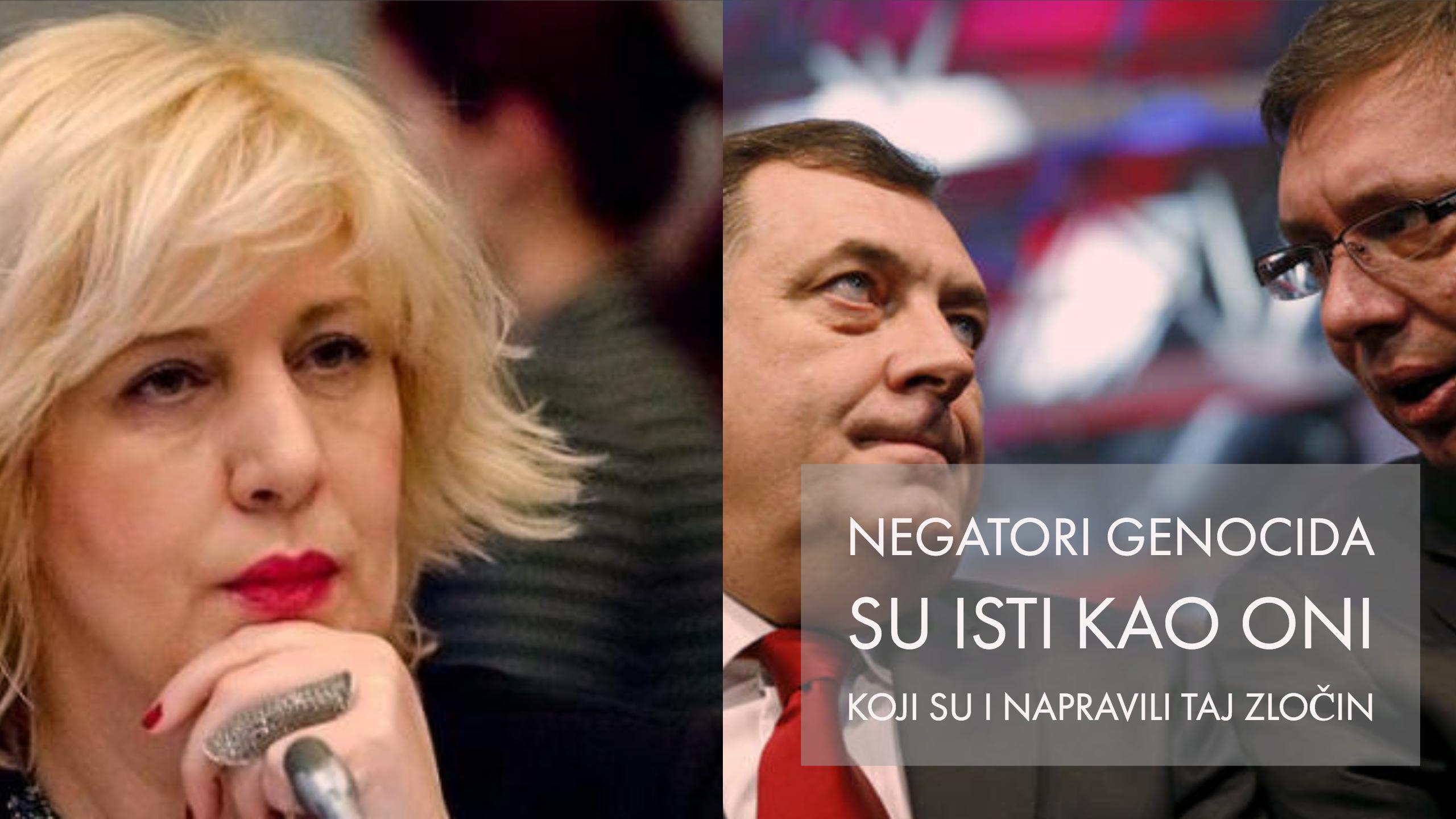 Dunja Mijatović: Genocid u Srebrenici nije se desio slučajno