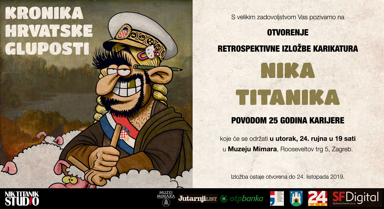 "Najava izložbe: ""Kronika hrvatske gluposti"" - Nik Titanik"