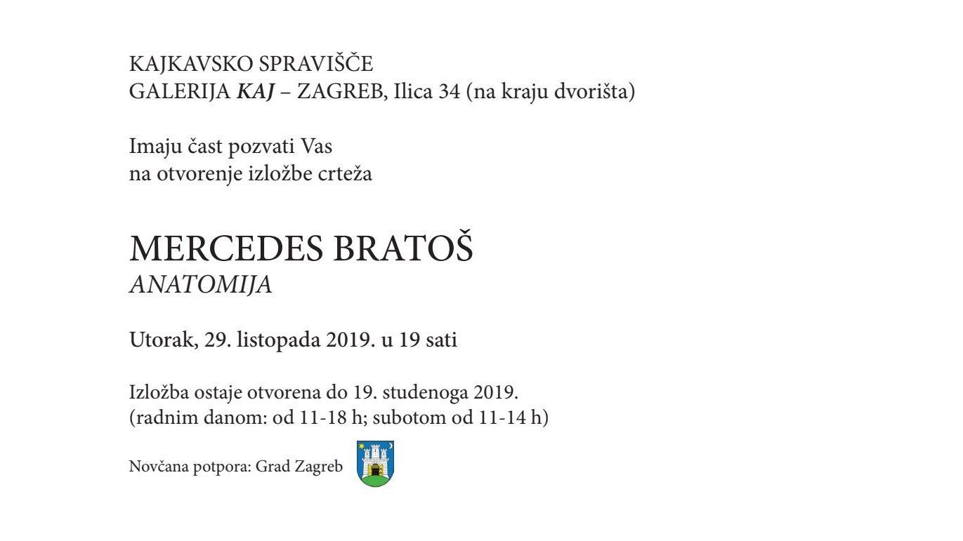 """Najava izložbe: """"Anatomija"""" - Mercedes Bratoš"""