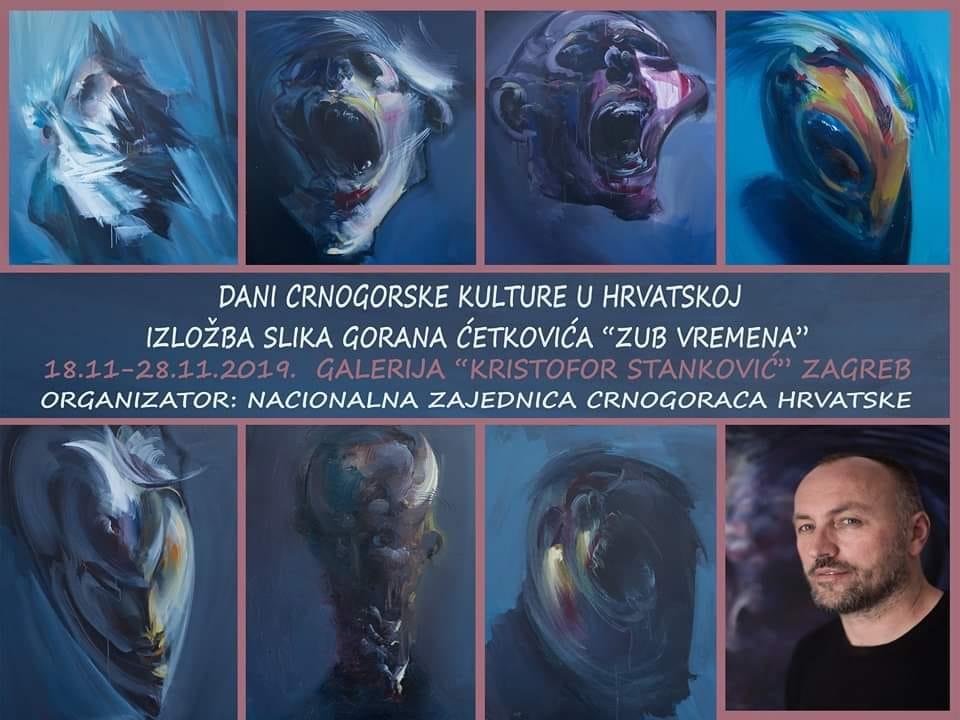 Dani crnogorske kulture 2019: Izložba Gorana Ćetkovića