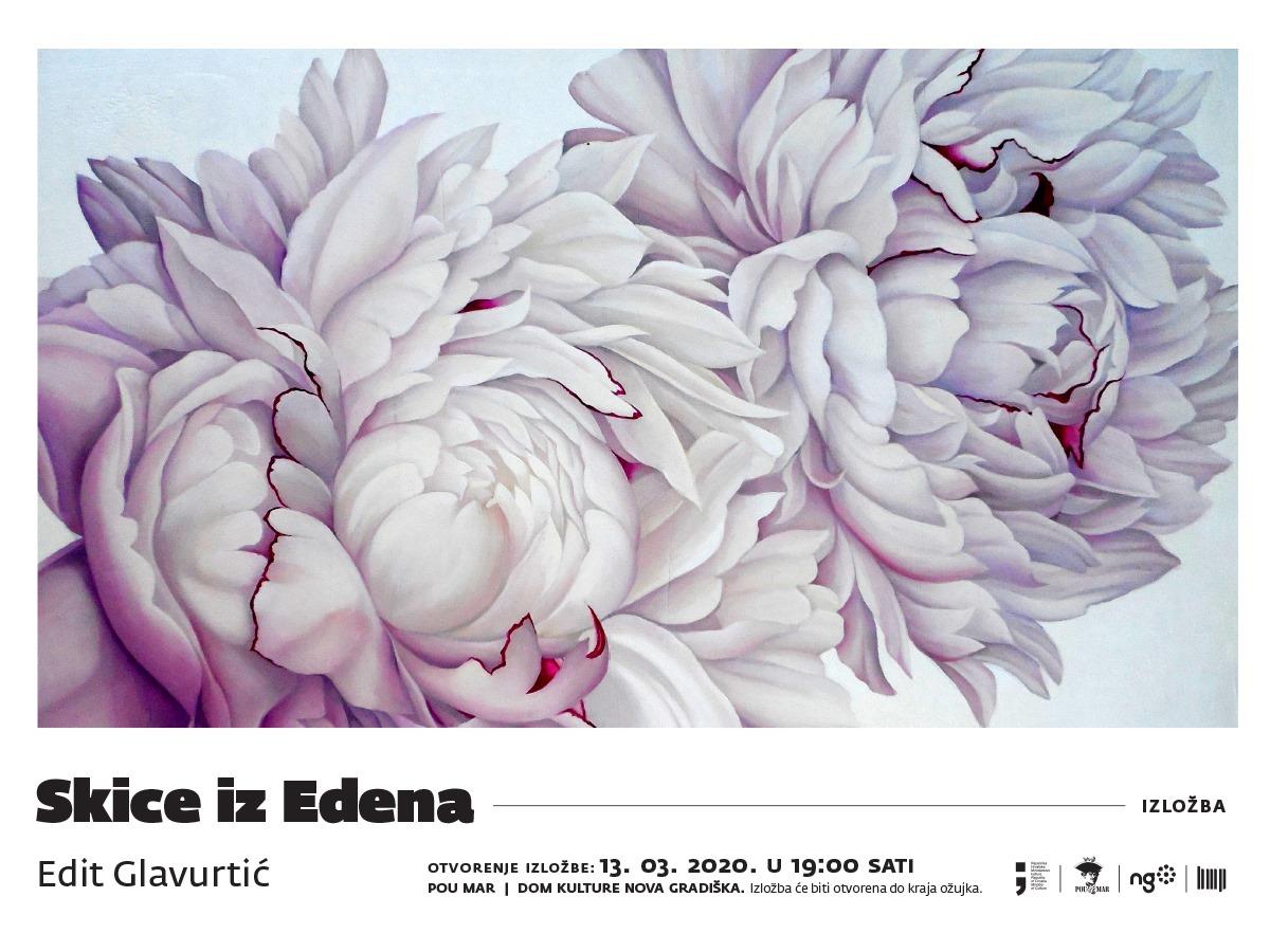 """Najava izložbe: """"Skice iz Edena"""" – Edit Glavurtić"""