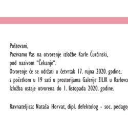 """Najava izložbe: """"Čekanje"""" - Karla Čurčinski"""