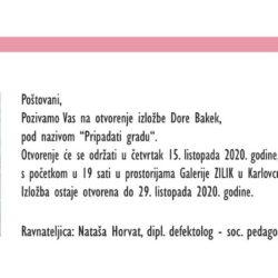 """Najava izložbe: """"Pripadati gradu"""" - Dora Bakek"""
