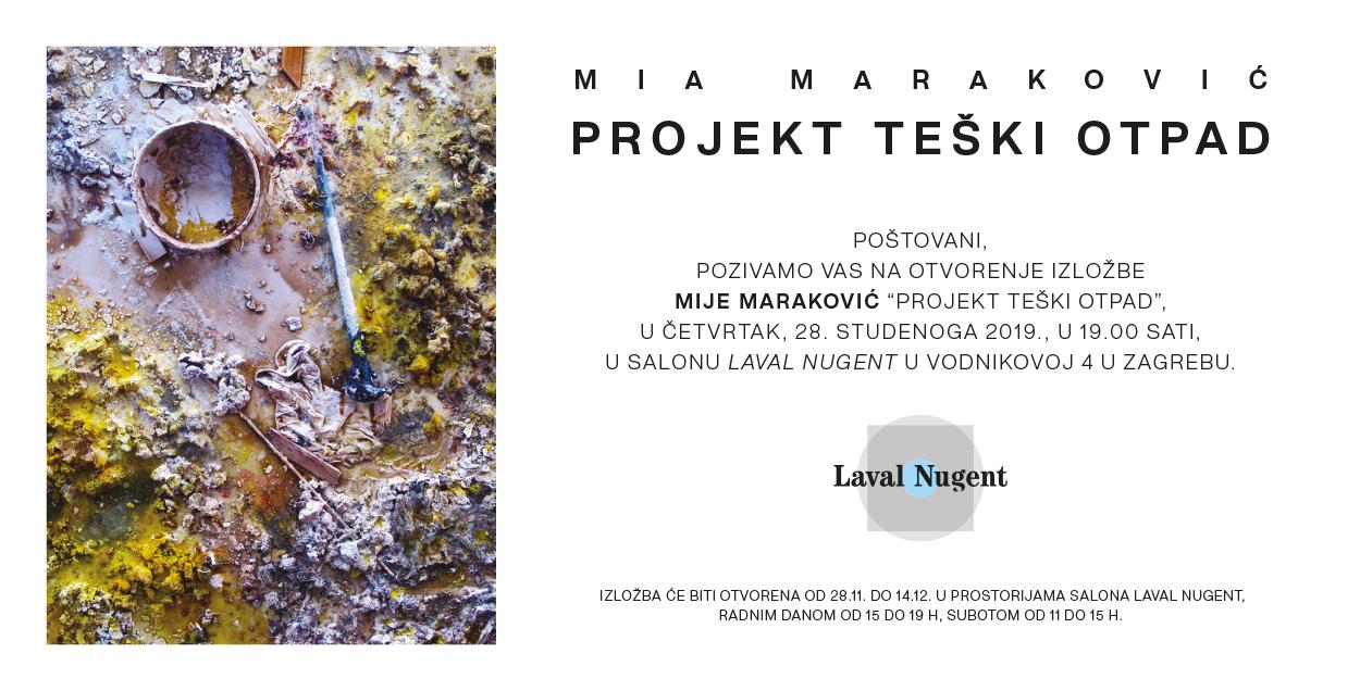"""Najava izložbe: """"Projekt teški otpad"""" - Mia Maraković"""
