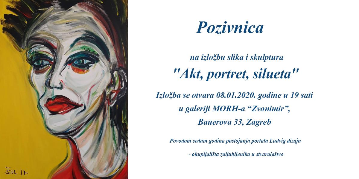 """Sedma obljetnica Ludvig Dizajna: Izložba """"Akt, portret, silueta"""""""