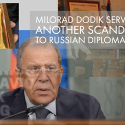 Milorad Dodik served another scandal to Russian diplomacy